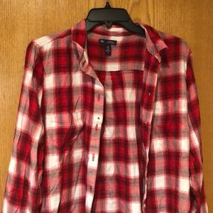 Red & White Gap Flannel